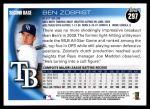 2010 Topps #297  Ben Zobrist  Back Thumbnail