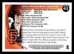 2010 Topps #412   Giants Team Back Thumbnail