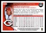 2010 Topps #563  Bronson Arroyo  Back Thumbnail