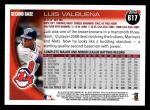 2010 Topps #617  Luis Valbuena  Back Thumbnail