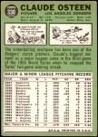 1967 Topps #330  Claude Osteen  Back Thumbnail