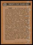 1988 Topps #665   -  Stan Musial Turn Back The Clock Back Thumbnail