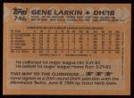 1988 Topps #746  Gene Larkin  Back Thumbnail