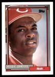 1992 Topps #283  Reggie Sanders  Front Thumbnail