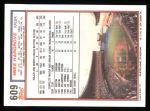 1992 Topps #609  Mike Hargrove  Back Thumbnail