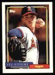 1992 Topps #702  Lee Stevens  Front Thumbnail