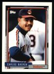 1992 Topps #33  Carlos Baerga  Front Thumbnail