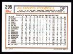 1992 Topps #295  Alonzo Powell  Back Thumbnail