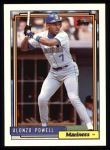 1992 Topps #295  Alonzo Powell  Front Thumbnail