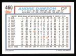 1992 Topps #460  Andre Dawson  Back Thumbnail