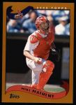 2002 Topps #4  Mike Matheny  Front Thumbnail