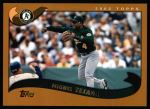 2002 Topps #585  Miguel Tejada  Front Thumbnail