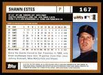 2002 Topps #167  Shawn Estes  Back Thumbnail