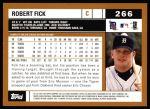 2002 Topps #266  Robert Fick  Back Thumbnail