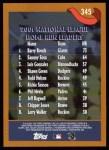 2002 Topps #345   -  Barry Bonds / Sammy Sosa / Luis Gonzalez NL HR Leaders Back Thumbnail