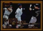 2002 Topps #345   -  Barry Bonds / Sammy Sosa / Luis Gonzalez NL HR Leaders Front Thumbnail
