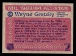 1984 Topps #154   -  Wayne Gretzky All-Star Back Thumbnail