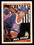1984 Topps #154   -  Wayne Gretzky All-Star Front Thumbnail