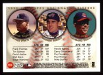 1999 Topps #456   -  Frank Thomas / Tim Salmon / David Justice All- DH Back Thumbnail
