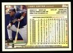 1999 Topps #75  Tony Gwynn  Back Thumbnail