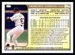 1999 Topps #177  Francisco Cordova  Back Thumbnail