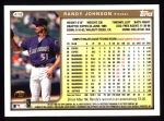 1999 Topps #418  Randy Johnson  Back Thumbnail