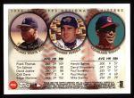 1999 Topps #456   -  Frank Thomas / Tim Salmon / David Justice All- DH Back Thumbnail