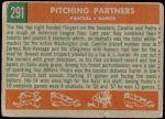 1959 Topps #291   -  Pedro Ramos / Camilo Pascual Pitching Partners Back Thumbnail