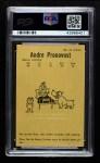 1961 Parkhurst #51  Andre Pronovost  Back Thumbnail