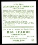1933 Goudey Reprint #204  Riggs Stephenson  Back Thumbnail