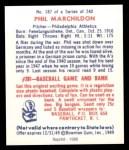 1949 Bowman REPRINT #187  Phil Markhildon  Back Thumbnail