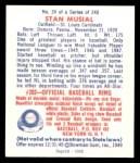 1949 Bowman REPRINT #24  Stan Musial  Back Thumbnail