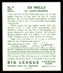 1934 Goudey Reprint #73  Ed Wells  Back Thumbnail