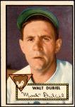 1952 Topps #164 CRM Walt Dubiel  Front Thumbnail