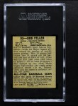 1948 Leaf #93  Bob Feller  Back Thumbnail