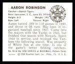 1950 Bowman REPRINT #95  Aaron Robinson  Back Thumbnail