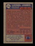 1985 Topps #376  Lionel James  Back Thumbnail
