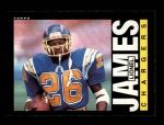 1985 Topps #376  Lionel James  Front Thumbnail