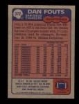 1985 Topps #372  Dan Fouts  Back Thumbnail