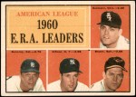1961 Topps #46   -  Jim Bunning / Frank Baumann / Hal Brown / Art Ditmar AL ERA Leaders Front Thumbnail
