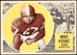1960 Topps CFL #43  Mike Kovac  Front Thumbnail