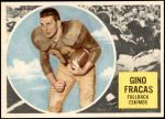 1960 Topps CFL #12  Gino Fracas  Front Thumbnail