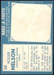 1961 Topps CFL #38  Roger Nelson  Back Thumbnail