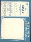 1961 Topps CFL #35  Ed Gray  Back Thumbnail