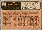1966 O-Pee-Chee #140  Jim Maloney  Back Thumbnail