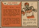 1965 Topps CFL #46  John Barrow  Back Thumbnail