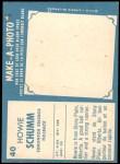1961 Topps CFL #40  Howie Schumm  Back Thumbnail