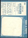 1961 Topps CFL #36  Oscar Kruger  Back Thumbnail