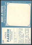 1961 Topps CFL #39  Jackie Parker  Back Thumbnail