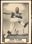 1962 Topps CFL #80  Don Clark  Front Thumbnail